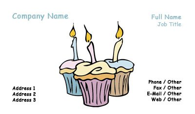 Three Cupcakes Business Card Template